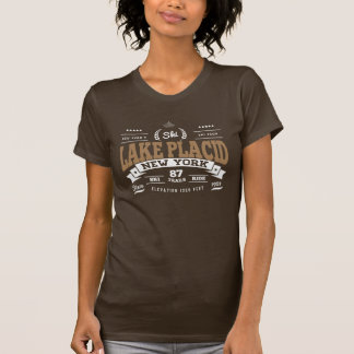 Lake Placid Vintage Mocha White T-shirt