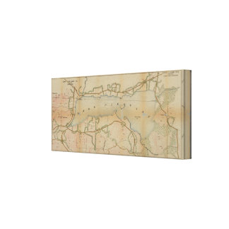 Lake Pleasant New York Vintage Map Canvas