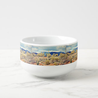 Lake Pleasant Saguaro Landscape Soup Mug