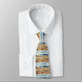 Lake Pleasant Saguaro Men's Tie