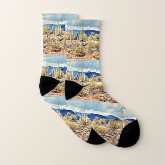 Lake Pleasant Saguaro Unisex Socks 1
