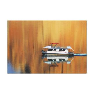 Lake Powell Boat Canvas Print