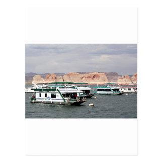 Lake Powell Houseboat, Arizona, USA 4 Postcard