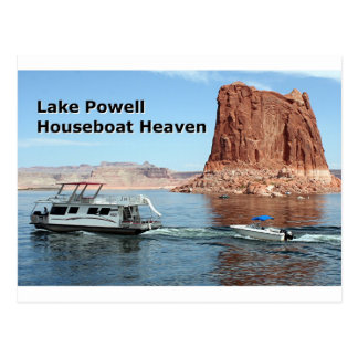 Lake Powell Houseboat Heaven, Arizona, USA Postcard
