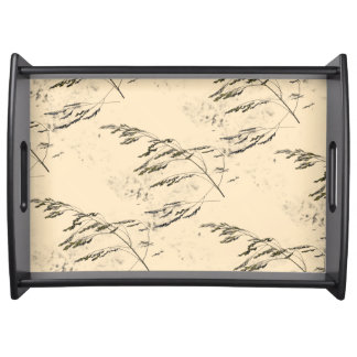 Lake reed parchment serving tray