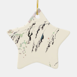 Lake Reeds - Cream and muted pastels Ceramic Star Decoration