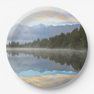 Lake Reflection 9 Inch Paper Plate