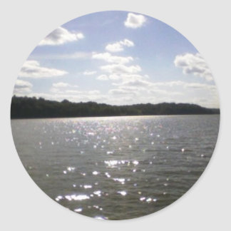 lake ripples classic round sticker