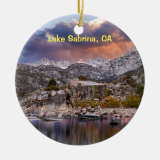 Lake Sabrina, California Ceramic Ornament