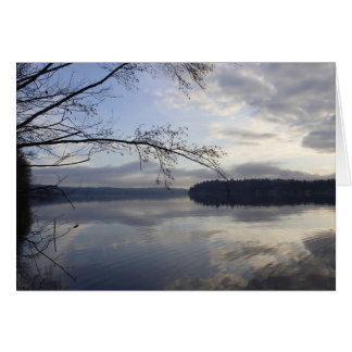Lake Sammamish on a winters day. Card