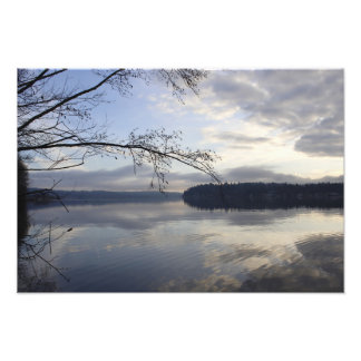 Lake Sammamish on a winters day. Photo Print