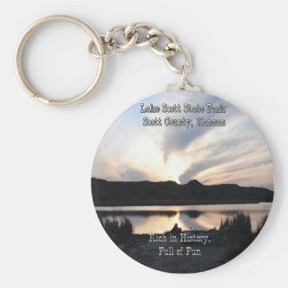 Lake Scott State Park-4 Basic Round Button Key Ring