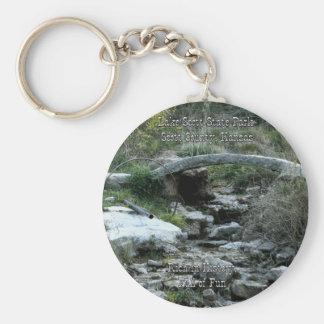 Lake Scott State Park-Big Springs Basic Round Button Key Ring