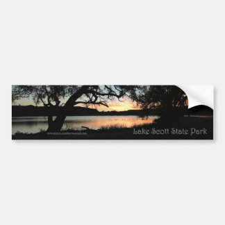 Lake Scott State Park Kansas Sunset Bumper Sticker