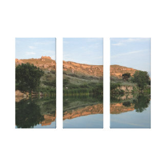 Lake Scott State Park - Reflection Wrapped Canvas