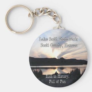 Lake Scott Sunset Key Ring
