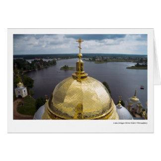Lake Seliger from Nilov Monastery Card