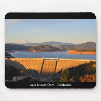 Lake Shasta Dam  at Sunset - California Mouse Pad