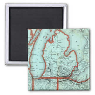 Lake Shore and Southern Michigan Railway Square Magnet