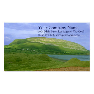 Lake Shore Shoreline Lush Green Grassy Mountains Pack Of Standard Business Cards
