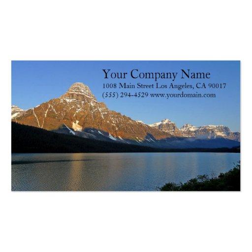 Lake Shore Shoreline Snowy Rocky Mountains Business Cards