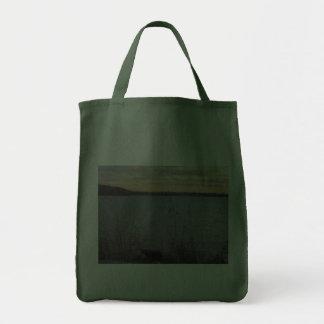 Lake Shore Sunset Tote Bag