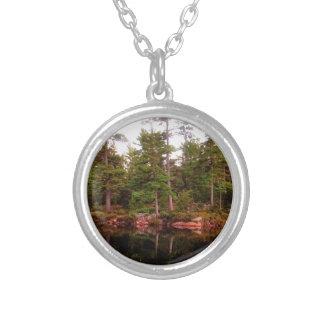 Lake Shoreline St Joseph Island Silver Plated Necklace
