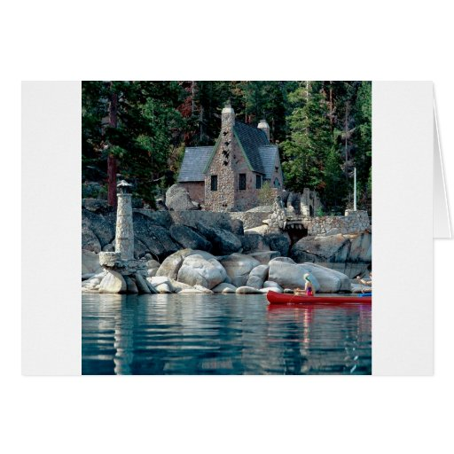 Lake Sight Seeing By Canoe Tahoe Greeting Cards