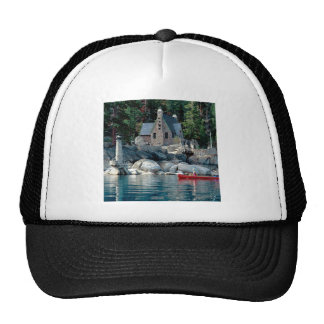 Lake Sight Seeing By Canoe Tahoe Hats