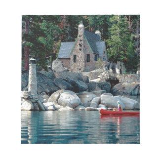 Lake Sight Seeing By Canoe Tahoe Memo Pad