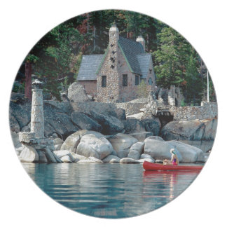 Lake Sight Seeing By Canoe Tahoe Party Plates