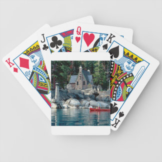 Lake Sight Seeing By Canoe Tahoe Poker Cards