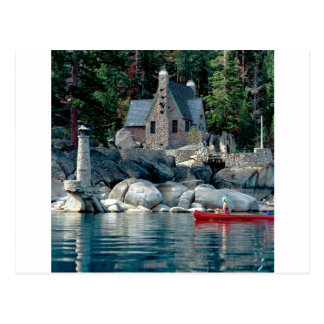 Lake Sight Seeing By Canoe Tahoe Postcards