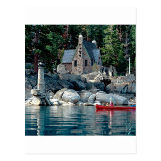Lake Sight Seeing By Canoe Tahoe Postcard
