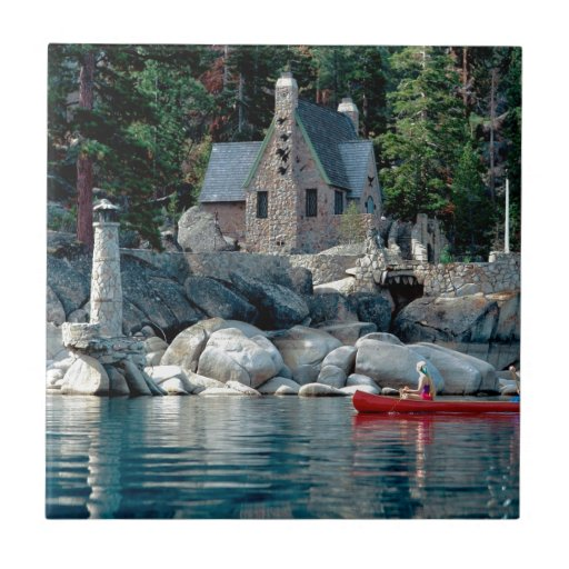 Lake Sight Seeing By Canoe Tahoe Tile