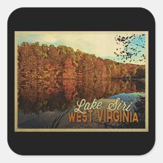 Lake Siri West Virginia Square Sticker