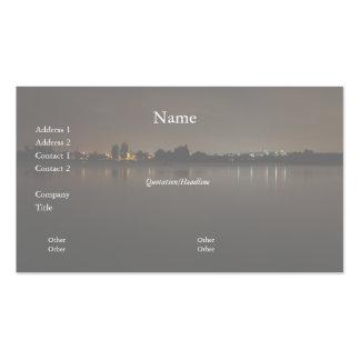 Lake Skyline at Night 2 Business Card