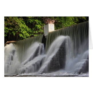 Lake Solitude Waterfall, High Bridge, New Jersey Card