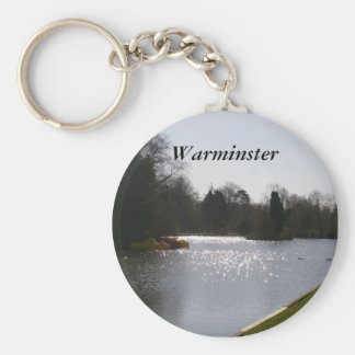 Lake Sparkles Basic Round Button Key Ring