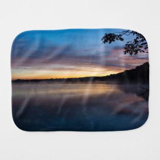 Lake Springfield Autumn Sunrise Burp Cloth