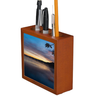 Lake Springfield Autumn Sunrise Desk Organiser