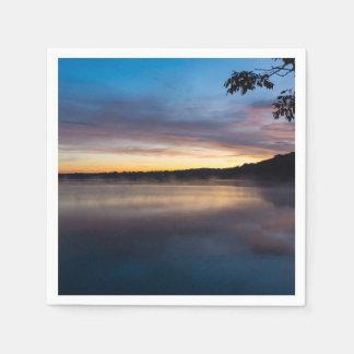Lake Springfield Autumn Sunrise Disposable Napkin
