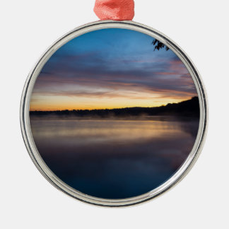 Lake Springfield Autumn Sunrise Metal Ornament