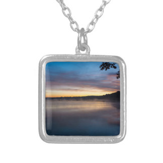 Lake Springfield Autumn Sunrise Silver Plated Necklace