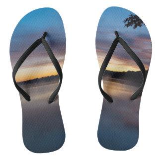 Lake Springfield Autumn Sunrise Thongs