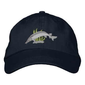 Lake Sturgeon Embroidered Baseball Cap