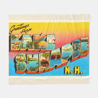 Lake Sunapee New Hampshire NH Old Travel Souvenir Fleece Blanket