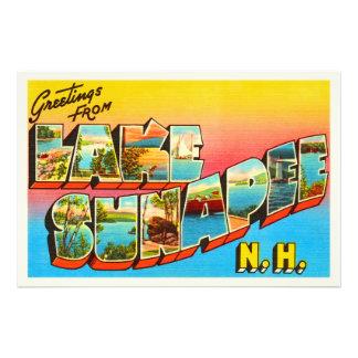 Lake Sunapee New Hampshire NH Old Travel Souvenir Photograph