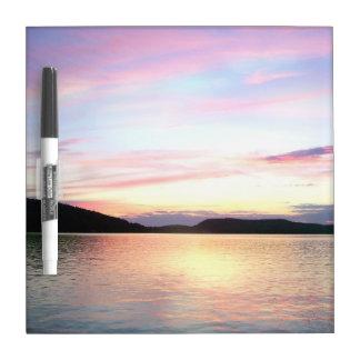 Lake Sunapee Sunset Dry Erase MEMO BOARD with pen