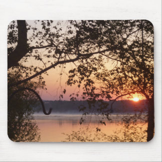 Lake Sunrise Mouse Pad